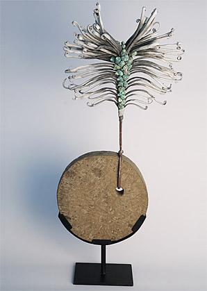 aranžmá - umělý květ, kámen   A00345_A