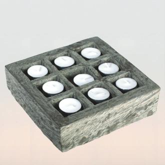 svícen - kámen - andesit, ruční práce | A00950
