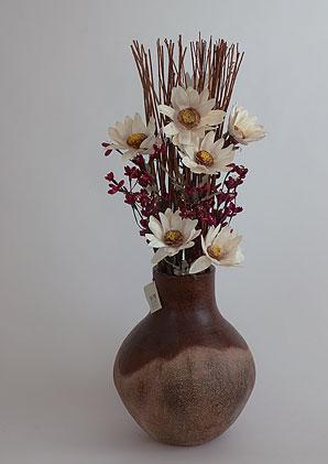aromadekoaranž - váza + celulózové květy + aromadekorace   A01175_B