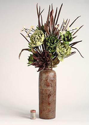 aranžmá trvalé hodnoty (umělé a celulozové květy+váza)   A01255_A