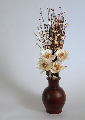 aromadekoaranž - váza + celulózové květy + aromadekorace   A01275_A