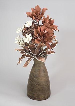 aranžmá - umělé květy, váza   A01285_B