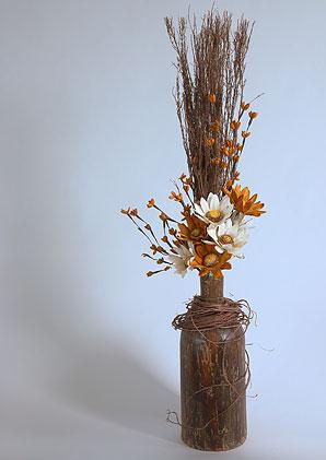 aromadekoaranž - váza + celulózové květy + aromadekorace   A01295_C