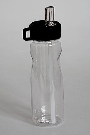 láhev s brčkem - 0,5 l - plast | A01520_BI