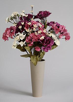 aranžmá trvalé hodnoty (celulozové květy+váza)   A02215_B