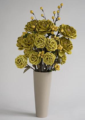 aranžmá trvalé hodnoty (celulozové květy+váza)   A02225_A