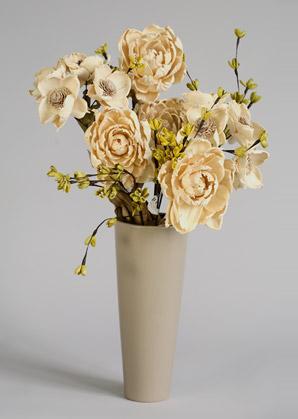 aranžmá trvalé hodnoty (celulozové květy+váza)   A02225_B