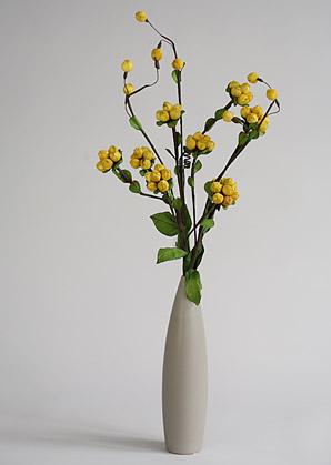 aranžmá trvalé hodnoty (celulozové květy+váza)   A02245_B