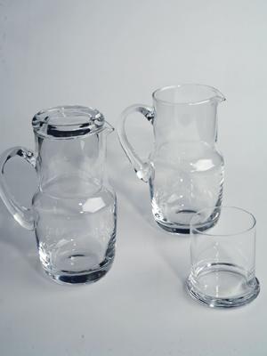 džbánek 0,75L se skleničkou 0,2L - čiré sklo | A02560