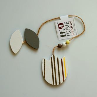 dekorace závěsná - dřevo | A03064