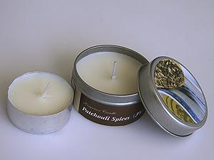 svíčka - pačule - plechový obal | A03111_ZBI