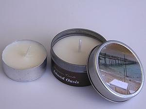 svíčka - moře - plechový obal | A03111_ZMO