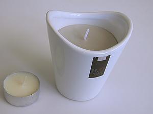 svíčka - porcelánový obal - parafín | A03130