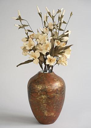 aranžmá trvalé hodnoty (celulozové květy+váza)   A03745_B
