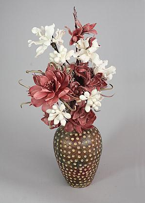 aranžmá - umělé květy, váza   A03775_A