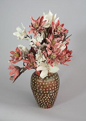 aranžmá - umělé květy, váza   A03775_B