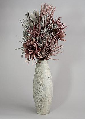 aranžmá - umělé květy, váza   A03836_B