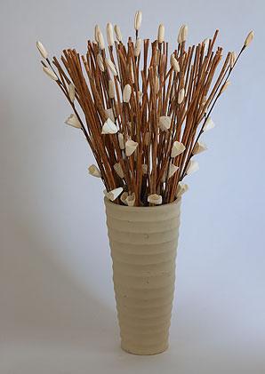 aromadekoaranž - váza + celulózové květy + aromadekorace   A03885_A