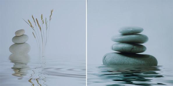 obraz 2 ks 50x50cm - laminované plátno | A05010