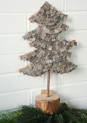 stromek dekorační - kůra, dřevo | A05350