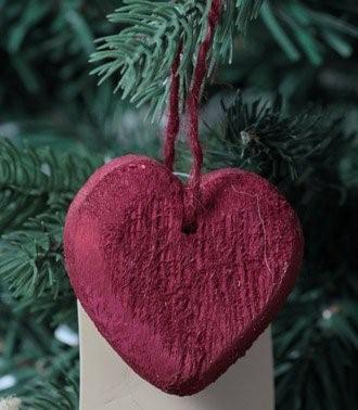 dekorace závěsná - srdce - dřevo   A05540_CV