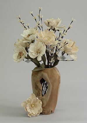 aranžmá trvalé hodnoty (celulozové květy+váza)   A06105_A