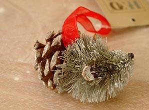 dekorace závěsná - ježek - přírodní materiál | A06920