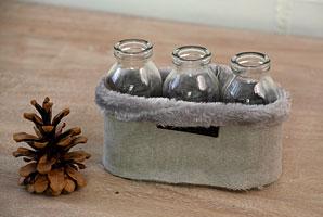 skleničky - 3 ks, plyšový obal | A07041