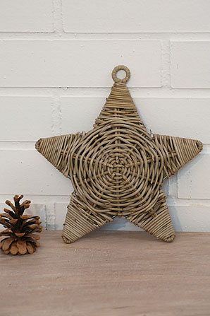 dekorace - hvězda - ratan  | A07110