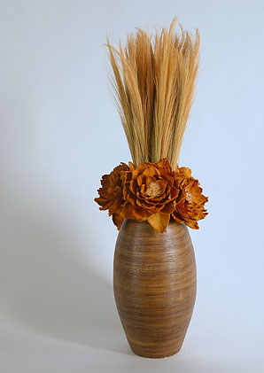 aromadekoaranž - váza + celulózové květy + aromadekorace   A07306_A