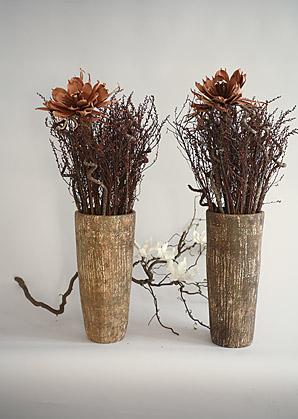 aranžmá - umělé květy, vázy, přírodní materiál   A07315_A