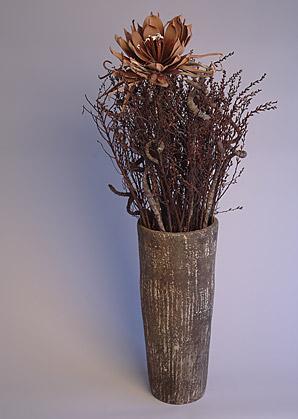 aranžmá - umělý květ, přírodní materiál, váza   A07315_B