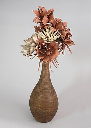 aranžmá - umělé květy, váza   A07346_A