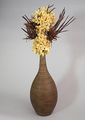 aranžmá - umělé květy, váza   A07347_A