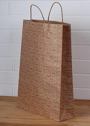 taška papírová vánoční | A07370