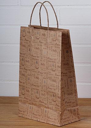 taška papírová vánoční | A07371