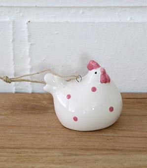 dekorace - závěsná slepička - keramika | A07410