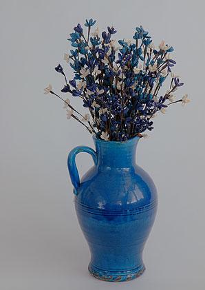 aromadekoaranž - váza + celulózové květy + aromadekorace   A07555_A