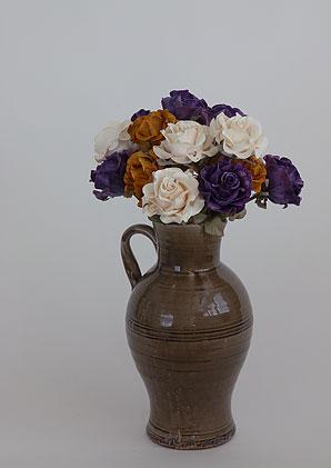 aromadekoaranž - váza + celulózové květy + aromadekorace   A07565_A