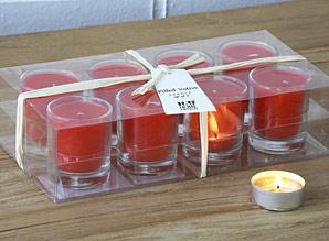 svíčky - sada - skleněný obal - 8 ks | A07720_CV2
