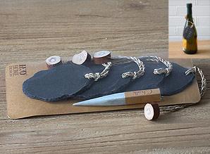 visačky s křídou - břidlice - sada 4 ks | A07780_CE1