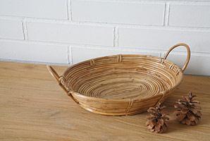košík oválný - bambusové stéblo | A07982_BE2