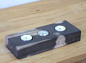 svícen - zkamenělé dřevo | A08013