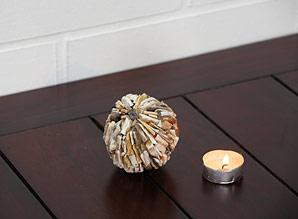koule  lepená - kousky fosílií | A08020