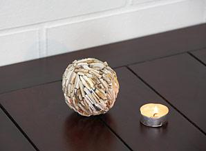 koule  lepená - kousky fosílií | A08021