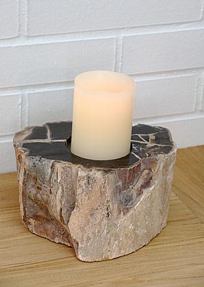 svícen - zkamenělé dřevo | A08030