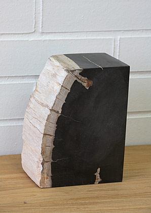 zarážka na knihy - zkamenělé dřevo  | A08061