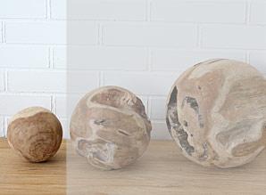 koule dekorační - kořenové dřevo - teak | A08220_HN2