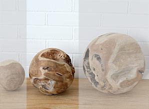 koule dekorační - kořenové dřevo - teak | A08221_HN2