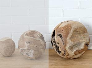 koule dekorační - kořenové dřevo - teak | A08222_HN2